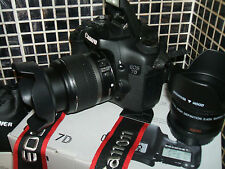 Canon EOS 7D 18.0 MP Digital SLR Camera - WITH THREE LENSES