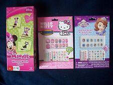 Hello Kitty, Sofia The First Decorative Nail Art Plus Minnie Match Game NEW!