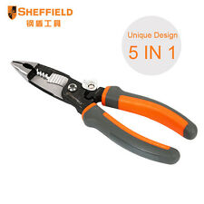 SHEFFIELD 5 in 1 Multi-function Electric Cable Cutter Stripper Plier Crimper