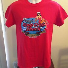 """VINTAGE TRACY'S KING CRAB SHACK """"BEST LEGS IN TOWN"""" T SHIRT SMALL"""