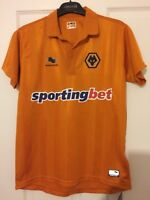 2012/2013 Wolverhampton Wanderers home football shirt Burrda Wolves XS mens BNWT