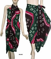 100% Cotton Tie & Dyed Beach Scarf Sarong Wrap Pareo Bikini Cover Up Dress 4572