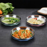 Stainless Steel Plate Dish Tray Household Tray Cute Plate Snack Fruit Plate Dish