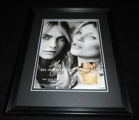 Cara Delevigne & Kate Moss 2015 Burberry Framed 11x14 ORIGINAL Advertisement
