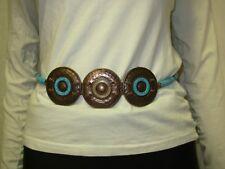 5503d2f0235 Ceinture métal cuivré et perles bleu turquoise Taille Unique