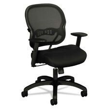 Basyx Wood Guest Chair Black Leather Upholstery w//mahogany VL853NSB11 NEW