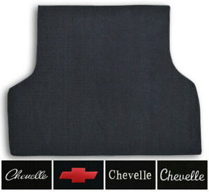 1970-1972 Chevrolet Chevelle Loop Carpet Logo Trunk Mat with Pad 1pc