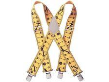 """Kunys SP-15Y Yellow Work Trouser Braces 2"""" Wide Metal Clips SP15YT"""
