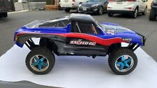 1/10 RC Rally Monster Nitro Gas RTR Off Road Short Course Truck Carbon Blue USED