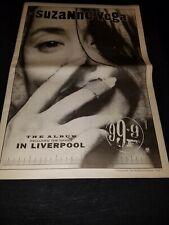 Suzanne Vega In Liverpool Rare Original Uk Promo Poster Ad Framed!