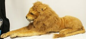 "Melissa & Doug Jumbo 74"" Laying Lion Plush Stuffed Animal Life like Realistic"