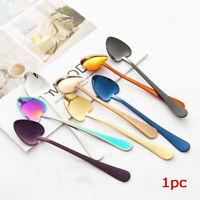 Stainless Steel Tableware Upscale Utensils Coffee Spoon Heart-Shape Scoops