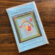"""Vintage Elrod's Rainbow Parade Quilt Pattern 40"""" x 50"""" Yours Truly Elephant"""