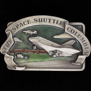 Nasa Space Shuttle Columbia Geek Space Science 80s 1982 Vintage Belt Buckle