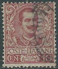 1901 REGNO USATO FLOREALE 10 CENT - RB31-7
