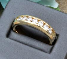 Band Ring 10K Yellow Gold Fn 1.00 Ct Dvvs1 Diamond Men's Engagement Wedding