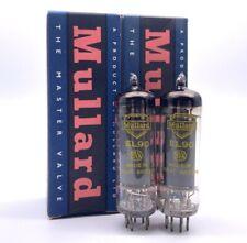 Rare Matched Pair Mullard EL90 6AQ5 Yellow Print Valves Tubes NOS Boxed