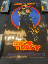 """1990 """"Dick Tracy"""" Warren Beatty Coming Attraction Double Sided Movie Poster"""