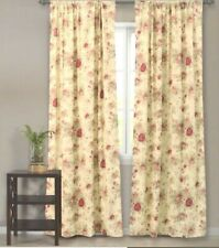 Greenland Home Fashions Antique Rose Window Floral Yellow Curtains Drapes Panels