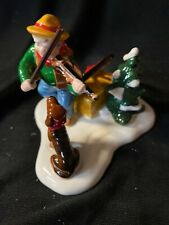 Department 56 Figuring A Man Playing The Violin And His Dog Listening