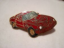 PONTIAC TRANS AM  RED T TOP CAR    HAT,LAPEL PIN