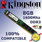 Memoria RAM DDR3 8GB 1600Mhz - Kingston ¡ A ESTRENAR ! - 100% COMPATIBLE