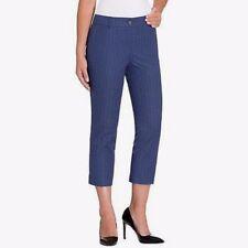 Hilary Radley Women's Stretch Cropped Slim Leg Capri Dress Pants Blue  Sz 14
