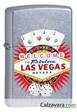 Zippo Accendino a Benzina Antivento 15L049 - Las Vegas Card Wheel Dice L.V.