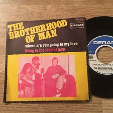 "French 7"" Brotherhood of man Where are you going to my love Living in the land"
