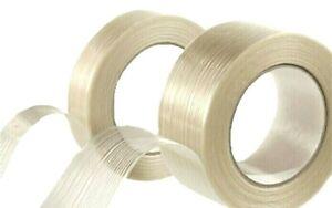 "Fiberglass Filament Reinforced Tape 3/4"" 1"" 2"" x 60 Feet Strapping Packaging"