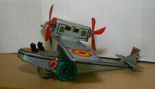 Tin Toy lithograph wind up WWI aeroplane - Collectors item