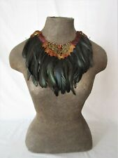 Pheasant and coquil feather collar with shell accent  36