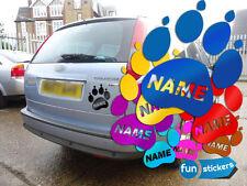 Pfote Dog Hundepfote mit Namen Aufkleber Fun-Sticker 10x12cm viele Farben Tatze