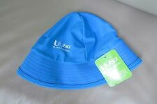 Speedo girls S/M with Chin Strap UV50+ Block the Burn Sun Hat CAP-TURQUOISE-NWT