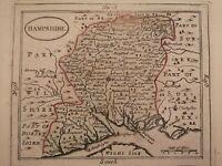 Hampshire - original antique map, c1784