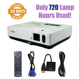 Epson PowerLite 1810P 3LCD Projector 3500 ANSI 1080i - Only 720 Lamp Hours Used!