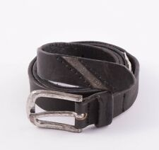 "DIESEL ""BLAG"" BLACK LEATHER BELT – SIZE 100/40 Length 45"" / 114 CM RRP 75 €"