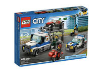 LEGO City 60143 Auto Transport Heist With Instructions & Minifigures No Box 5-12