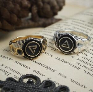Earth and Air symbols Quen and Aard ring, hunter signs, isnpired by witcher ring