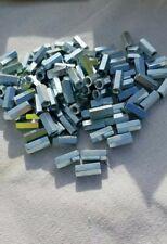 "Qty(50) Hex Coupler Nuts 1/4""-28 x 7/8"" Threaded Rod Connectors, Zinc, Coupler."
