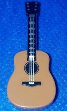 LEGO Minifigure MEDIUM DARK FLESH Guitar Acoustic Silver String Music Instrument