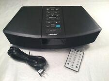 New listing 🔴 Bose Wave Radio Awr1-1W Black Am/Fm Radio Stereo Alarm Clock No Battery Cover