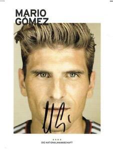 Mario Gomez   AK 2014 **** OHNE FIFA DfB Trikot  mit original Unterschrift