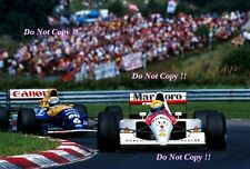 Ayrton Senna Mclaren MP4/6 ganador húngaro Grand Prix 1991 fotografía