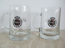 Set of Two (2) WARSTEINER Premium Verum BIG Beer Glass Mugs Heavy Quality EUC!!!