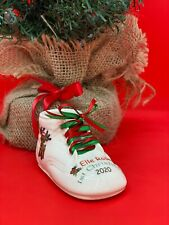 Personalized Ceramic Baby Shoe Bootie Keepsake 1st First Christmas