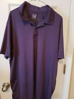 Men's Weatherproof 32 Degrees Cool Purple Short Sleeve Golf/Polo ShirtSize XL