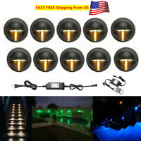 10X RGB Warm White 35mm LED Deck Step Stair Light Yard Lighting Low Voltage Kit