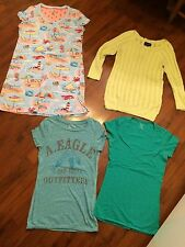 Women's Size Medium Lot American Eagle Tee Gown Sweater Summer Nick & Nora