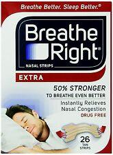 """Breathe Right EXTRA  """"50% stärker""""  26 Nasenpflaster in hautfarb. - besser atmen"""